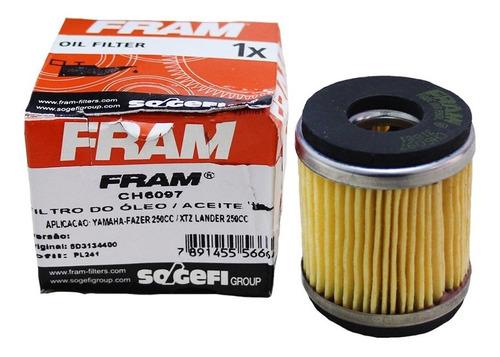 filtro óleo moto fram ch6097 yamaha lander xtz-250 01-07