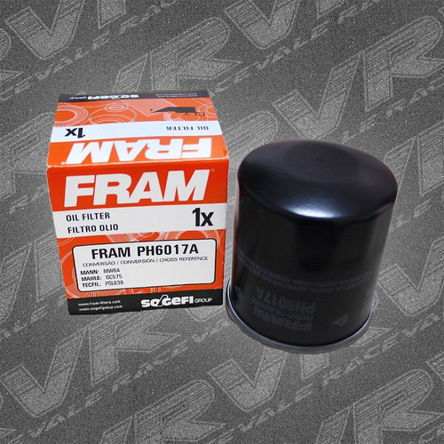 filtro óleo moto fram ph6017a honda kawasaki yamaha