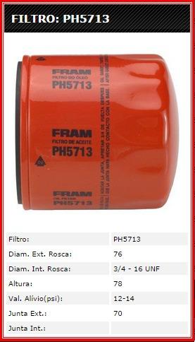 filtro óleo motor fram ph5713 - ka- fiesta - courier