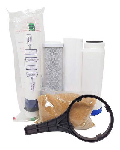 filtro osmose reversa + deionizador 100gpd + tds in-line 4 estágios 380l/dia