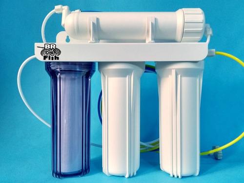 filtro osmose reversa e deionizador 100gpd mb400 completo