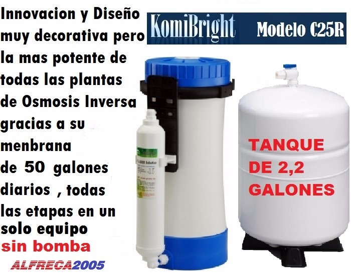 Filtro osmosis inversa 6 etapa agua komibright c25r 50g d - Filtro de osmosis inversa ...