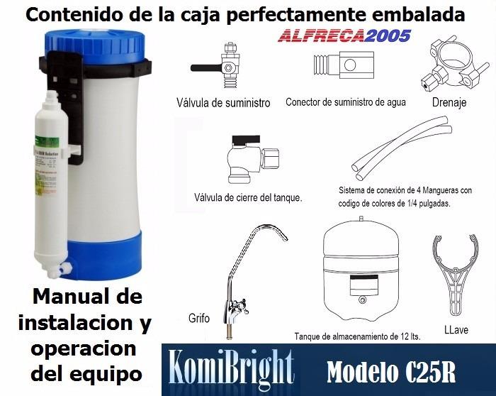 Filtro osmosis inversa 6 etapa agua komibright c25r 50g d - Filtros de osmosis inversa precios ...