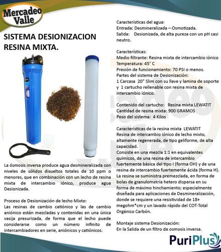 filtro osmosis inversa desionizador 150gpd uv 6 etapas