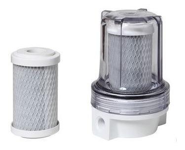 filtro p/ chuveiro shower transparente carvão remove cloro