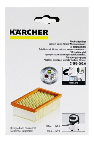 filtro papel para aspiradora wd4 premiun karcher 2.863-005.0