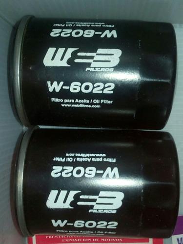 filtro para aceite w-6022 web filtros camionetas toyotas