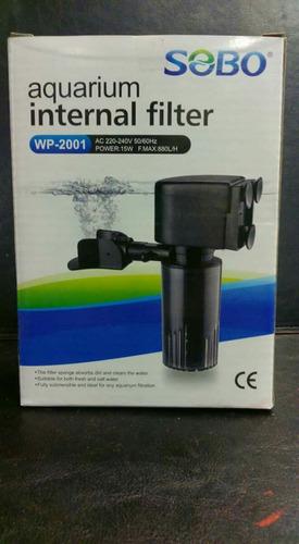 filtro para acuario marca sobo 880 litros hora