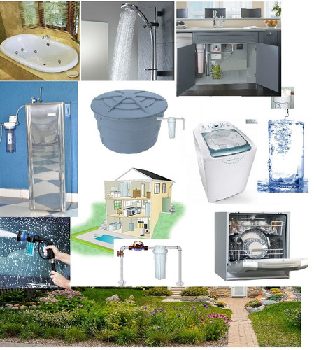 filtro para agua com elemento filtrante plissado lavavel