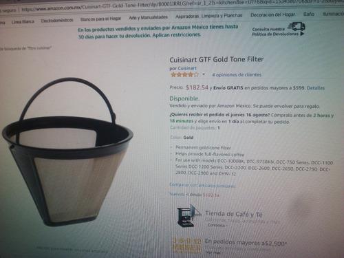 filtro para cafetera cuisinart gtf-1 nuevo
