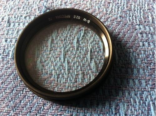 filtro para camara  52e 72  b+w