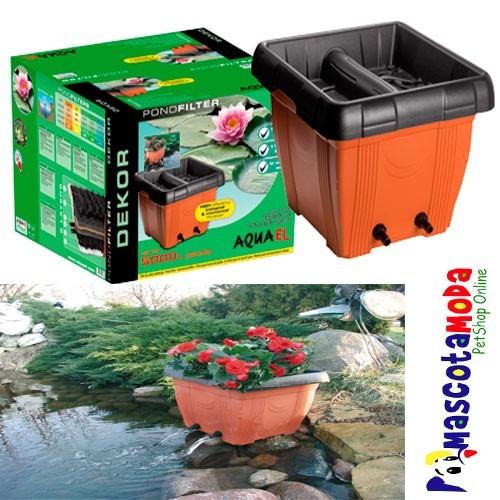 Filtro para estanque en forma de maceta decorativo u s for Filtro externo para estanque