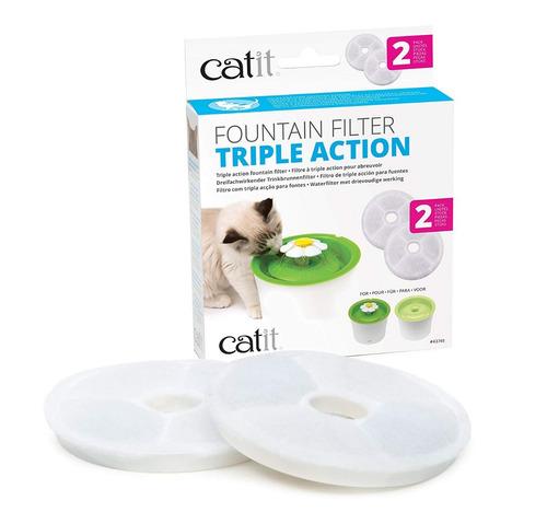 filtro para fuente de gatos catit triple acción x 2