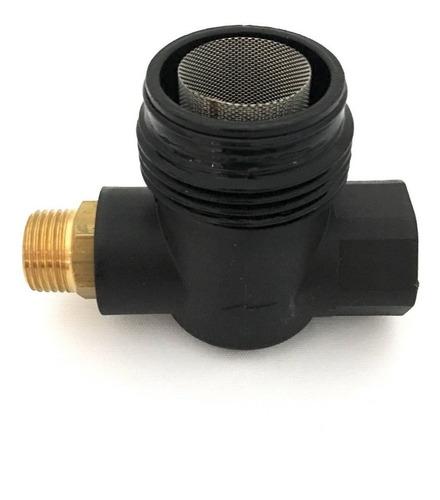 filtro para hidrolavadora industrial con entrada para el bypass italiano marca pa con malla de acero