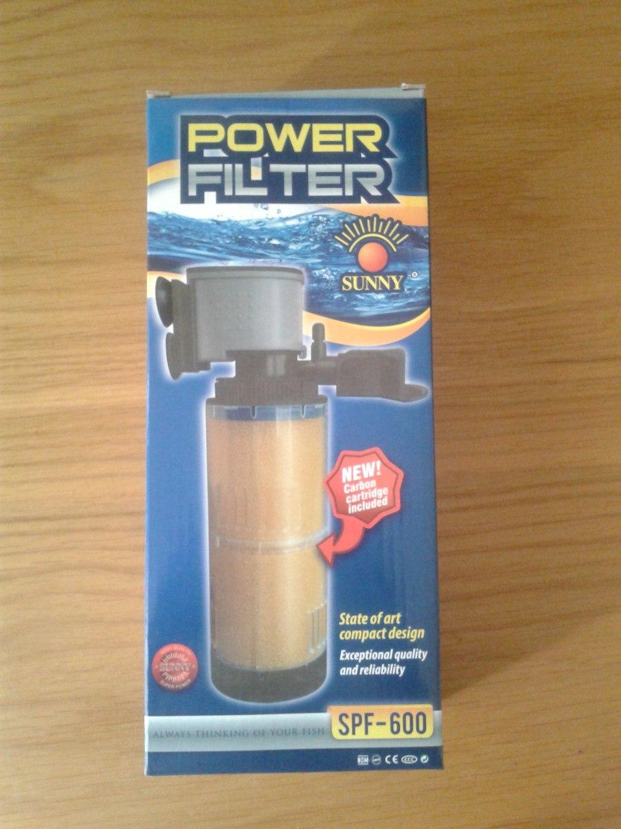 Filtro para pecera sunny spf 600 filtra 800 lts x hora for Filtro para pecera