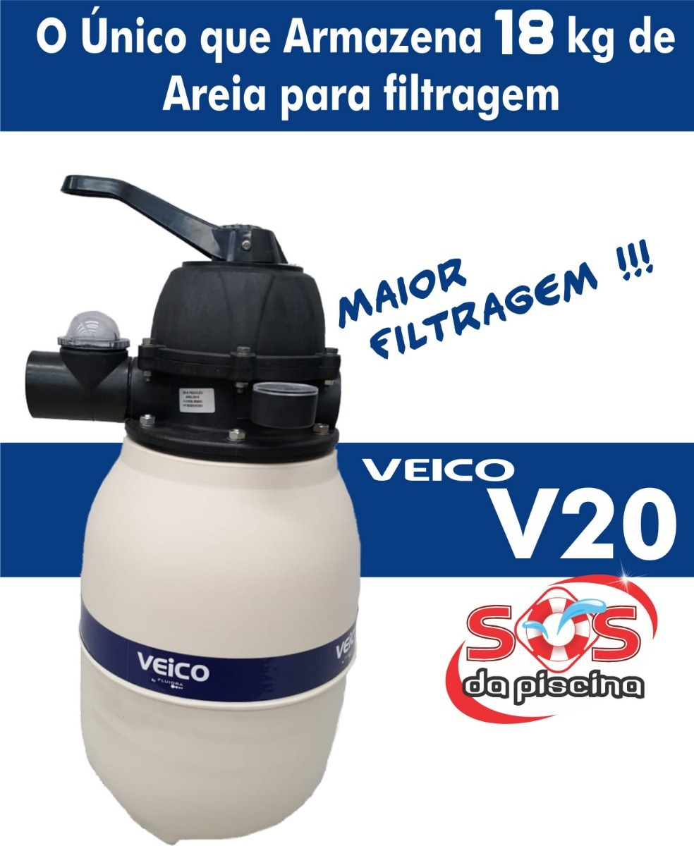 Filtro para piscina e bomba 1 4 cv at 21 m veico cmb r for Filtro de piscina