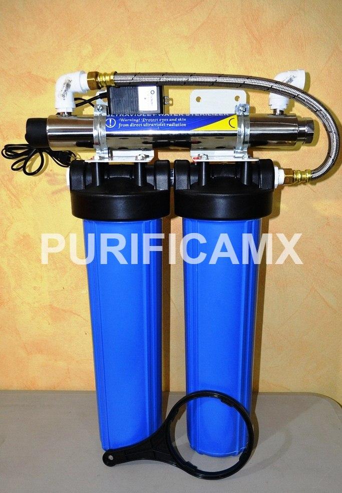 Filtro para toda la casa o negocio 3 etapas bb20 lampara for Filtro agua casa