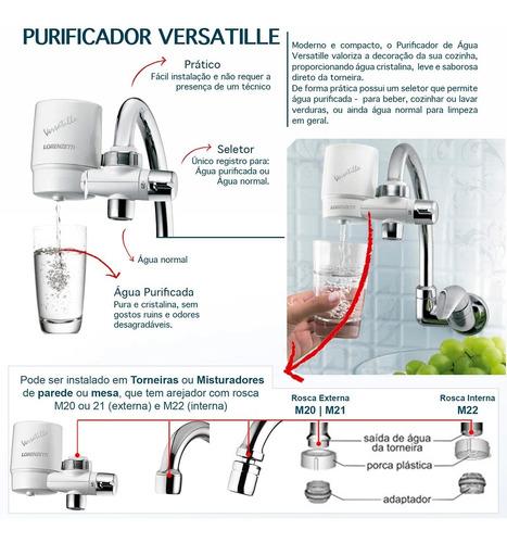 filtro para torneira de cozinha mesa ou parede + refil extra