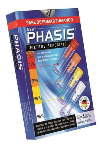 filtro phasis parar de fumar kit 4 piteiras nova embalagem