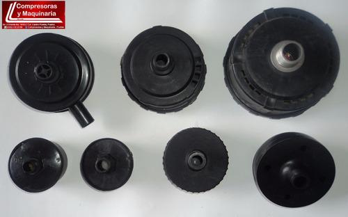filtro plástico con elemento para compresora. medida 1/2
