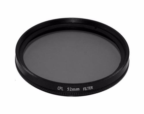 filtro polarizado 52mm para canon nikon pentax sony sigma