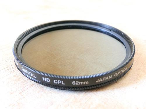 filtro polarizador bower 62mm digital hd cpl polarizer