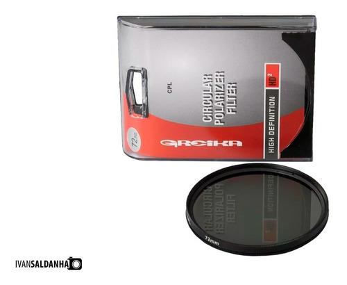 filtro polarizador cpl greika 72mm ( santo andré )