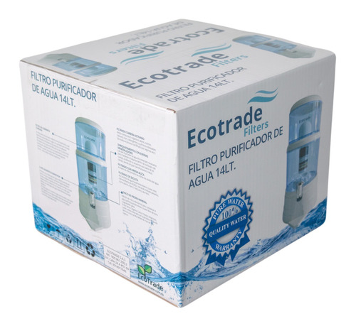 filtro purificador agua ecotrade 14 lt. + repuesto gratis