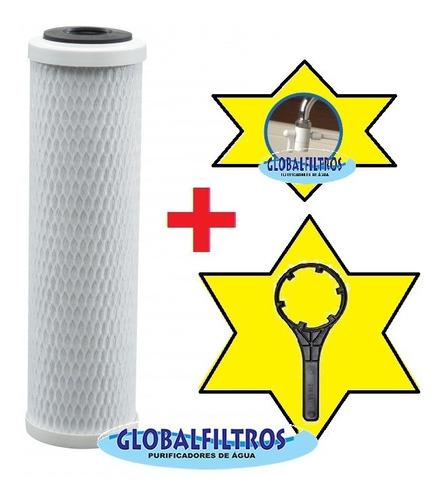 filtro purificador água hoken single - chave  difusor grátis