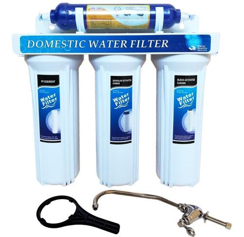 filtro purificador de agua 4 etapas con cartucho biocida