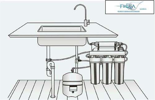 filtro purificador de agua 6 etapas residencial ósmosis y uv