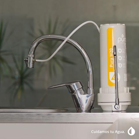 filtro purificador de agua pura h2o, sobre mesada