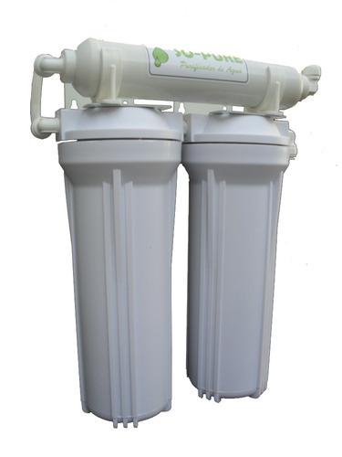 filtro purificador de agua triple. arsénico, metales, cloro