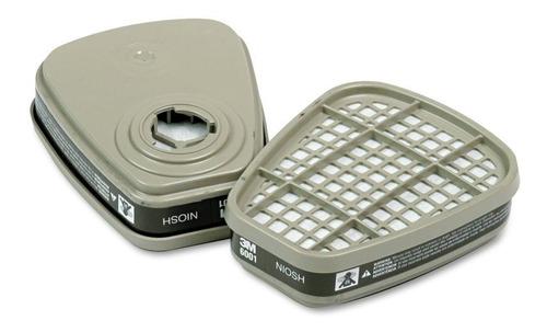 filtro químico 3m 6001 p/ máscara 6200 7502 6800 - 20 pares