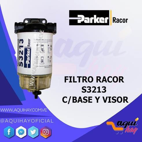 filtro racor  s3213 con base y visor