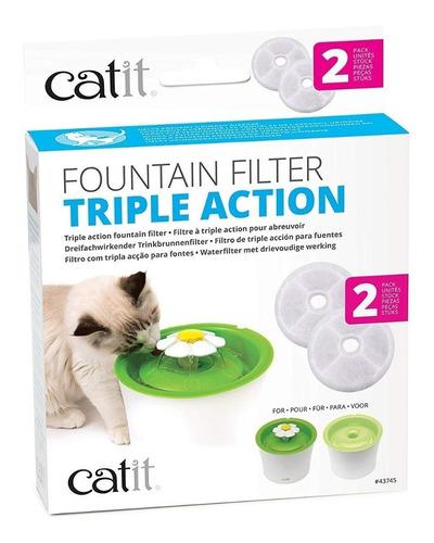 filtro reemplazo fuente catit triple accion filtro x2