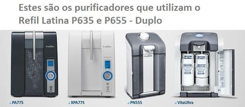 filtro refil p/ purificador água latina original p635 + p655
