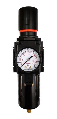filtro - regulador de aire 3/4 p/ compresor con manómetro