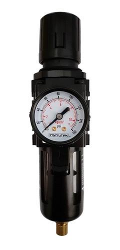 filtro - regulador de aire 3/8 p/ compresor con manómetro