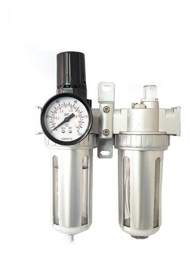 filtro regulador de presion lubricador compresor 1/4 rotake