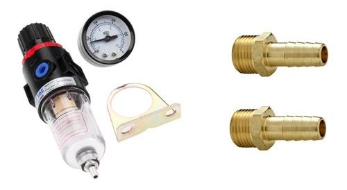 filtro regulador de pressão de ar 1/4 e 2 espigão latão 1/4