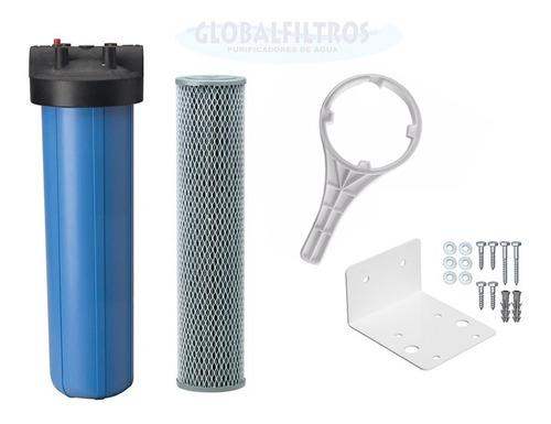 filtro removedor cloro alta vazão 6000l/h refil carvão ativo