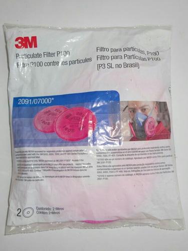 filtro repuesto 2091 o 2097 3m polvos y humos mascarilla