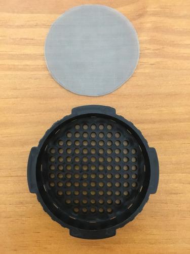 filtro reutilizável para aeropress feito em aço inox