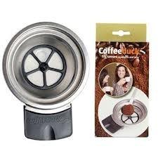 filtro reutilizável senseo latte e quadrante, coffeeduck