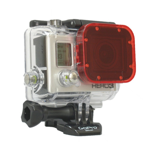 filtro rojo agua tropical red cube acrylic gopro hero 3 maa