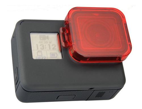 filtro rojo para gopro hero 6/7 red fiter for gopro