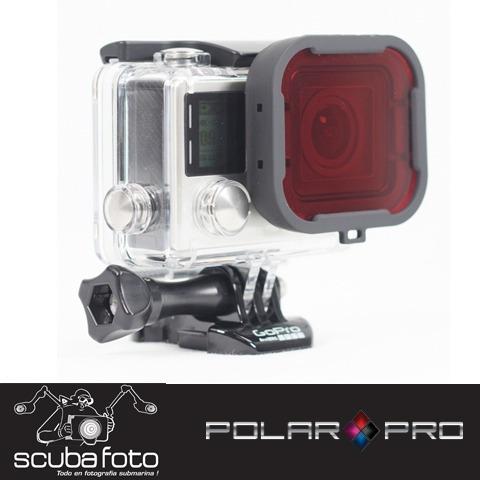filtro rojo para gopro hero3+ y hero 4 polar pro