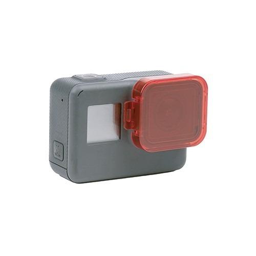 filtro rojo telesin para gopro