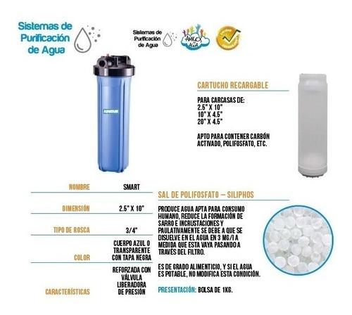 filtro sal polifosfato sarro agua para consumo tanque aquata